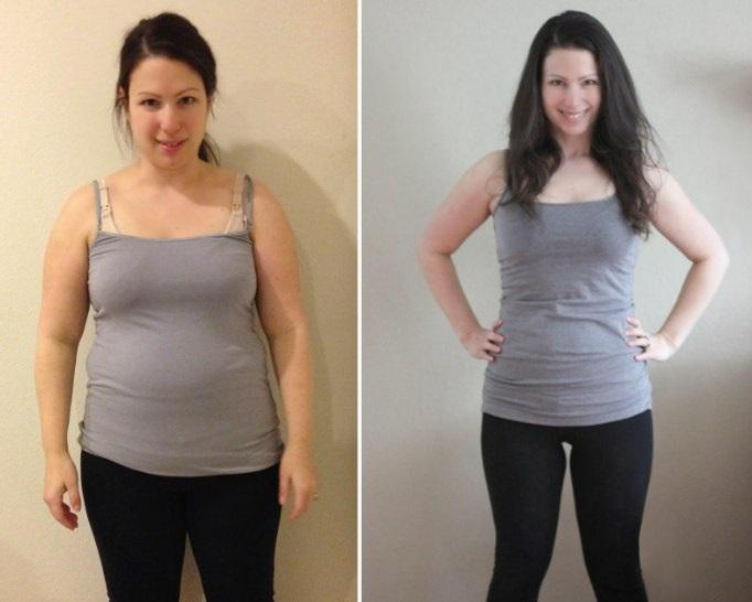Pierdere în greutate de 10 săptămâni înainte și după pierde 35 de kilograme de grăsime
